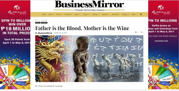 BM Father is the Blood Mother is the Wine